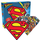 Superman shaped 600 piece double sided jigsaw puzzle 541mm x 406mm (nm 75017)